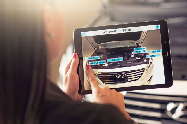 Hyundai's new augmented reality app for car maintenance