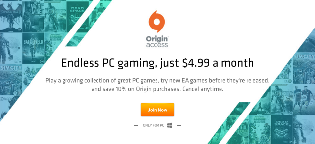 EA's $5 subscription service for PC games