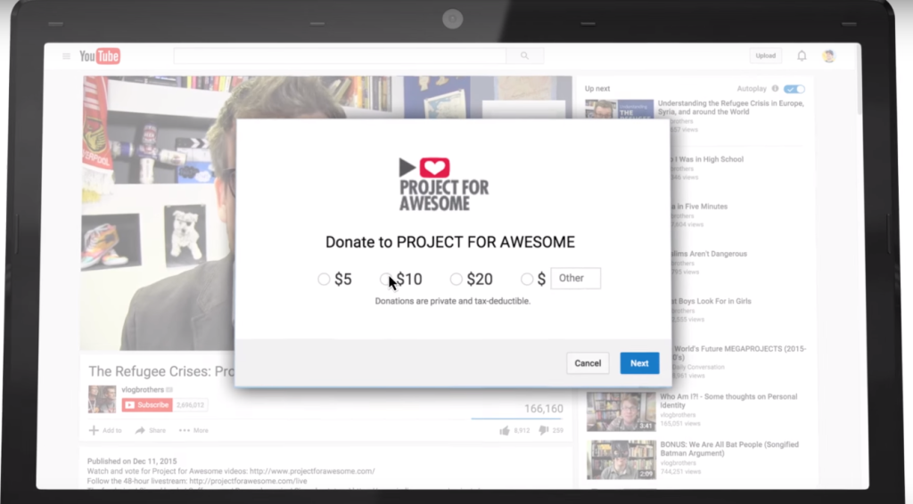 YouTube's New Donation Cards Help Video Creators Raise Money For Charities