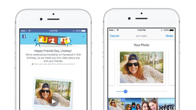 Facebook users can create a personal Friends Day video
