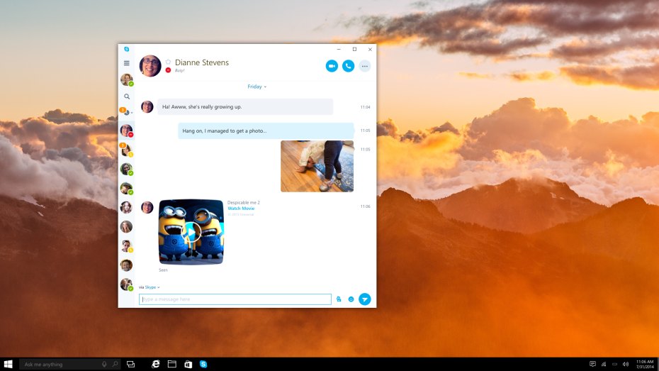 Skype will launch its universal Windows app
