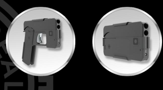 A company is making a gun shaped like a smartphone